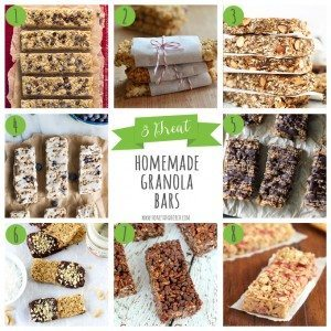 8 Great Homemade Granola Bars