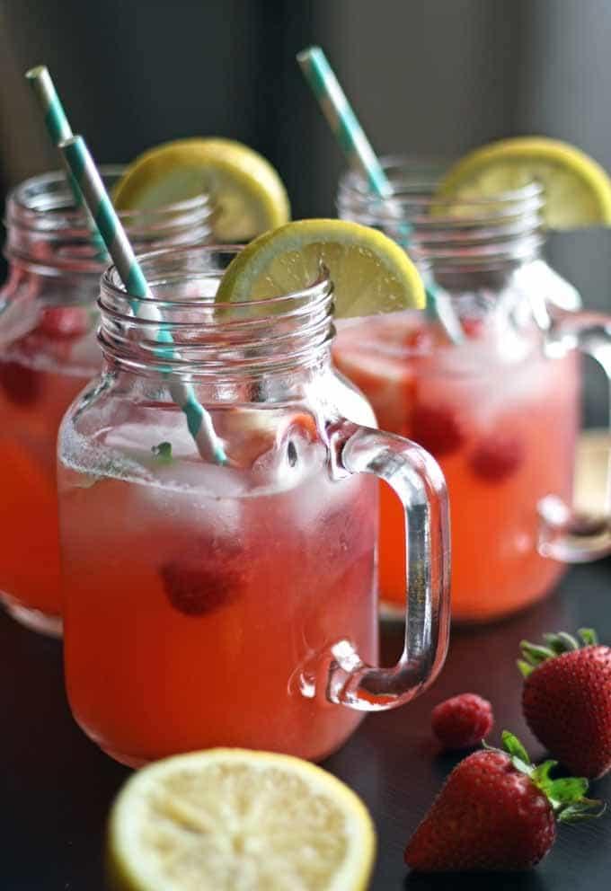 Berry Basil Lemonade | Honey and Birch