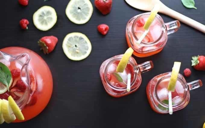 Berry Basil Lemonade   Honey and Birch