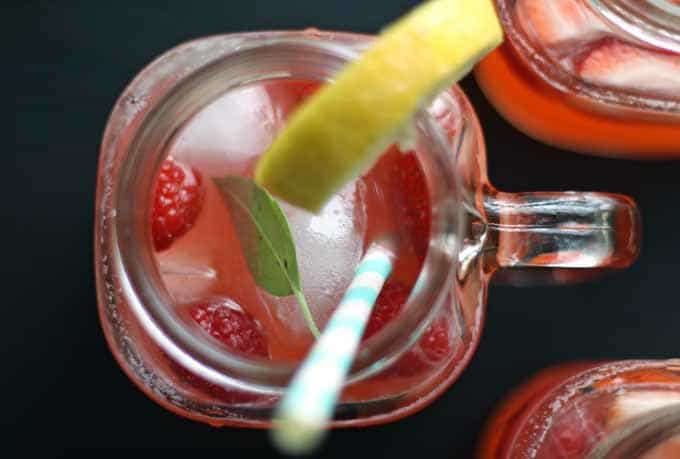 Berry Basil Lemonade | Honey and Birch