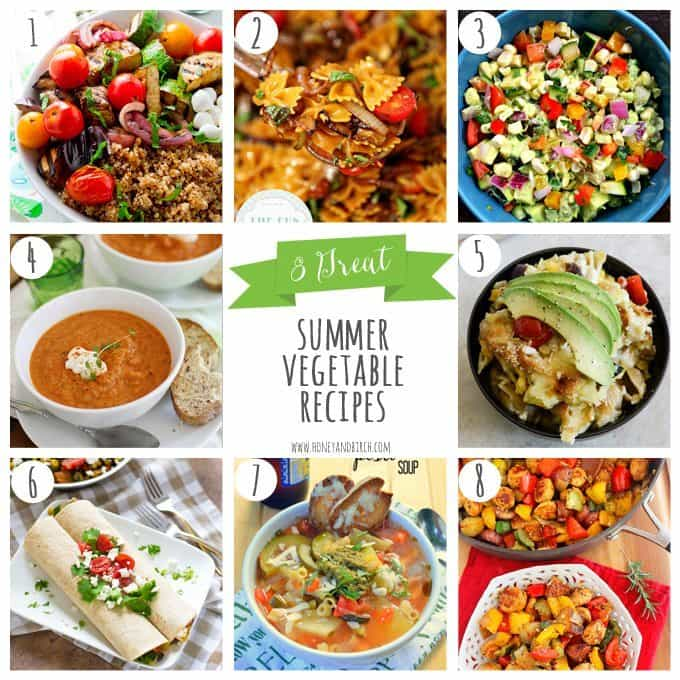 8 Great Summer Vegetable Recipes | Honey and Birch