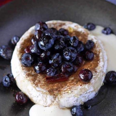 Brie and Pickled Blueberries