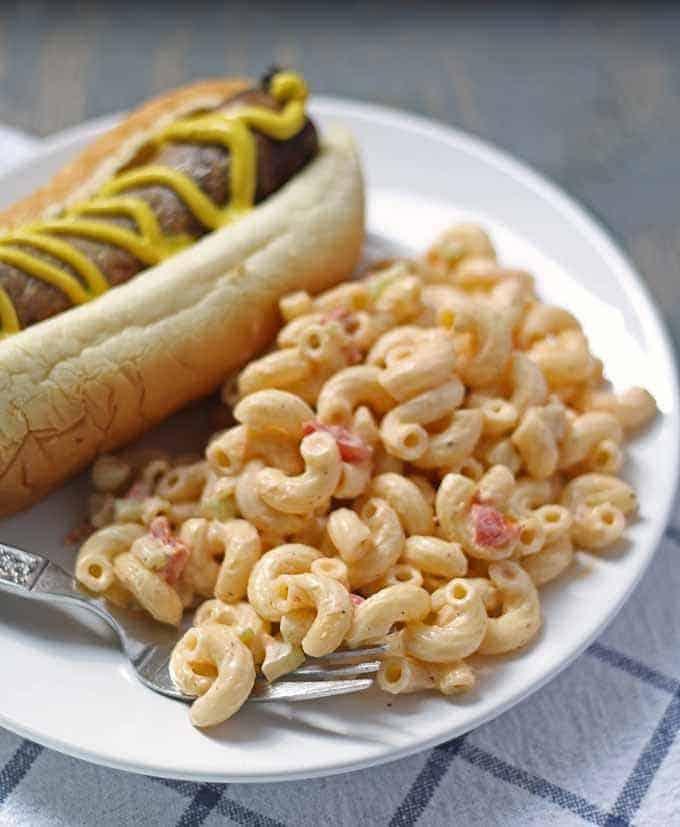 Deli-Style Macaroni Salad | Honey and Birch