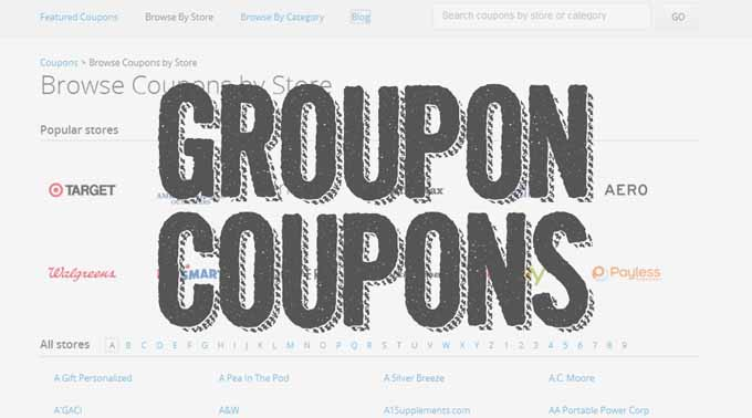 Sponsored: Groupon Coupons