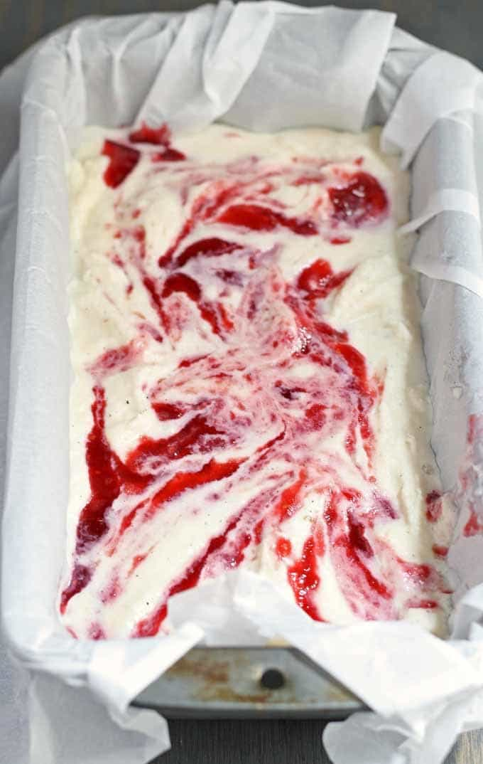 Before summer is over, try this Honey Vanilla Bean ice cream with Raspberry Swirls! #icecream #dessert #honey #raspberry #vanillabean | Honey and Birch