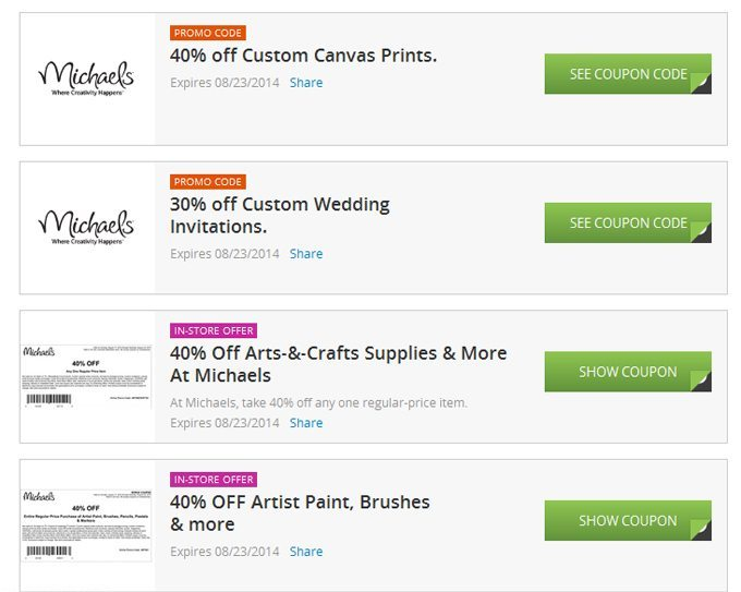 Michaels Groupon Coupon Page