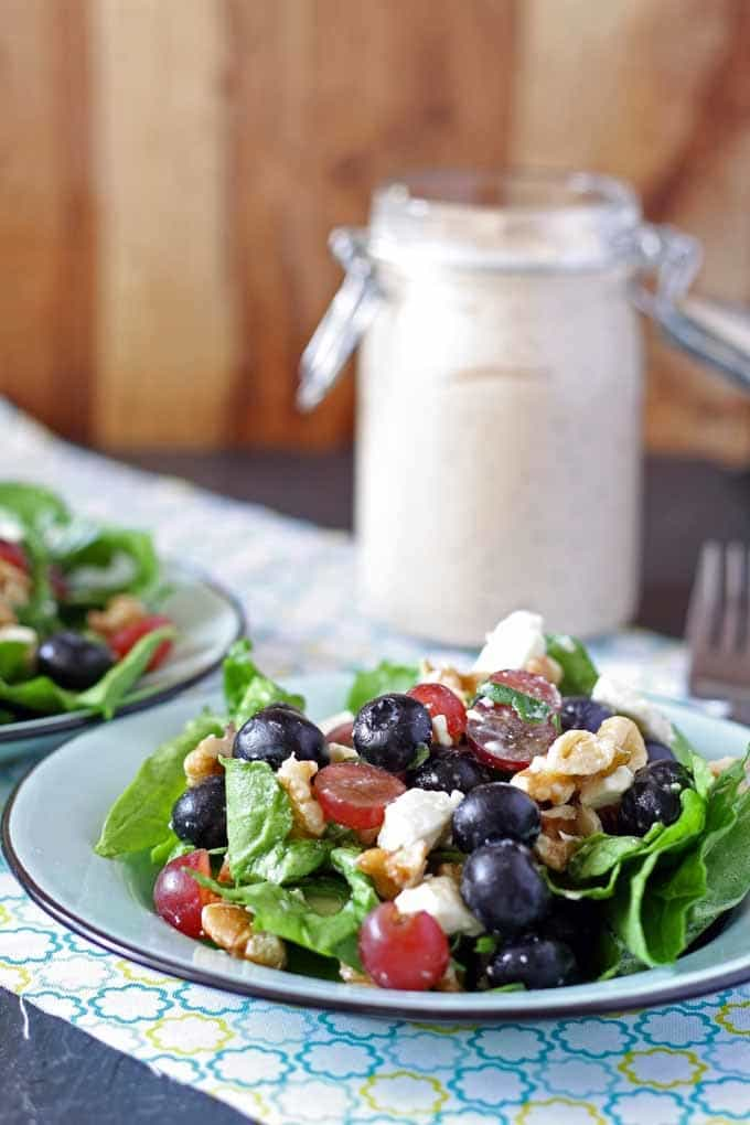 Spinach Salad with Balsamic Poppyseed Dressing   Honey and Birch