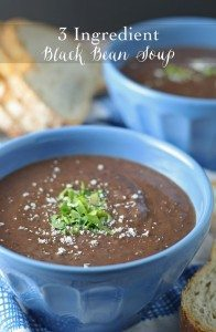 3 Ingredient Black Bean Soup | honeyandbirch.com #easy