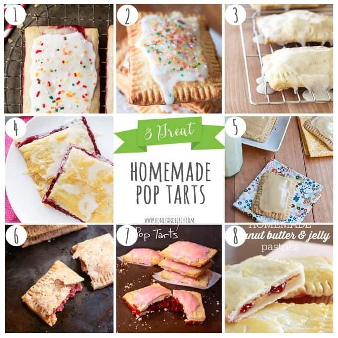 Looking to add an interesting twist to #breakfast? Make one of these 8 Great homemade pop tarts! | Honey and Birch
