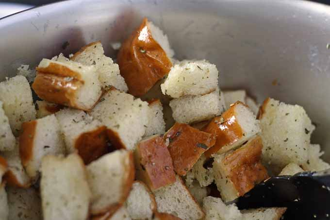 Easy Homemade Croutons! Perfect for soups and salads --> Honey and Birch