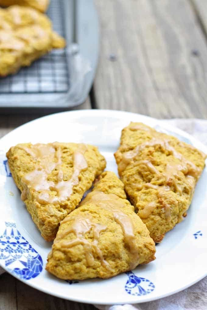 Pumpkin Spice Scones | Honey and Birch #scones #pumpkin
