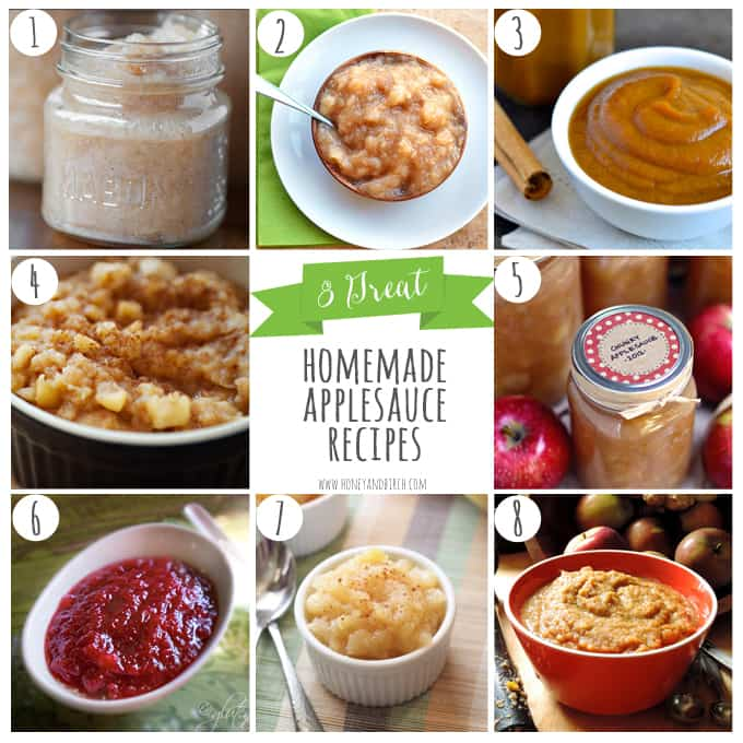 8 Great Homemade Applesauce Recipes | Honey and Birch #apples