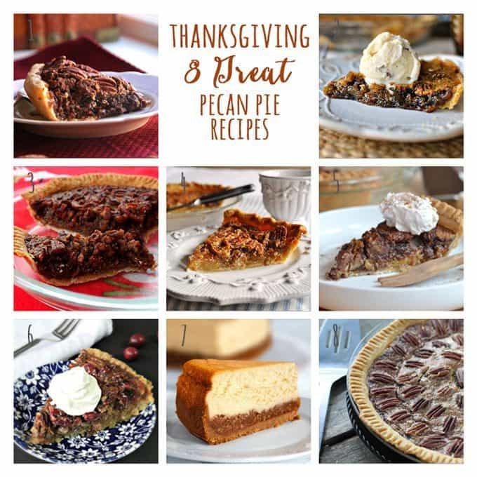 8 Great: Thanksgiving Dinner Edition | 8 Great Pecan Pie Recipes | www.honeyandbirch.com