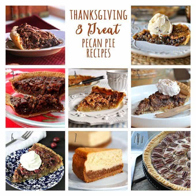 8 Great: Thanksgiving Dinner Edition   8 Great Pecan Pie Recipes   www.honeyandbirch.com