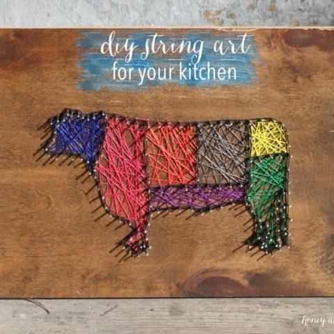 DIY String Art for Your Kitchen!