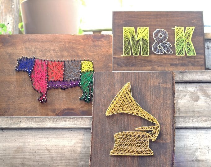 The product of our group string art day!