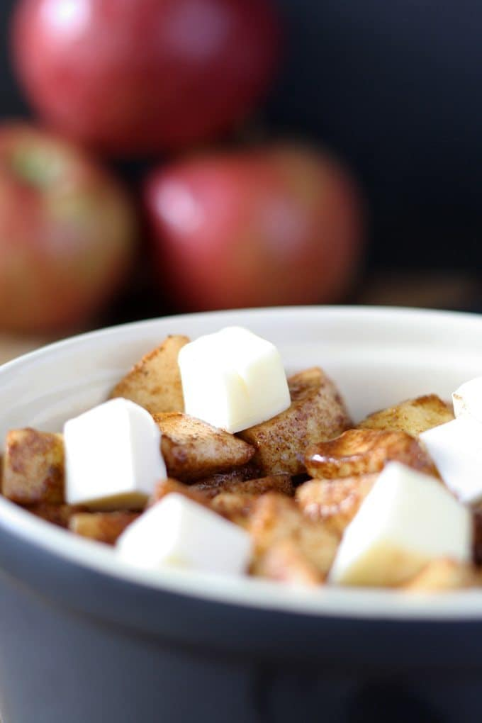 Easy Baked Apples | This easy gluten-free dessert is great on its own or on top of vanilla ice cream! | www.honeyandbirch.com