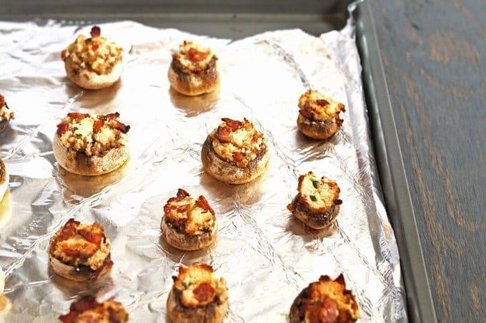 Easy Stuffed Mushroom Appetizer   Honey and Birch