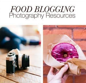Food Blogging Photography Resources