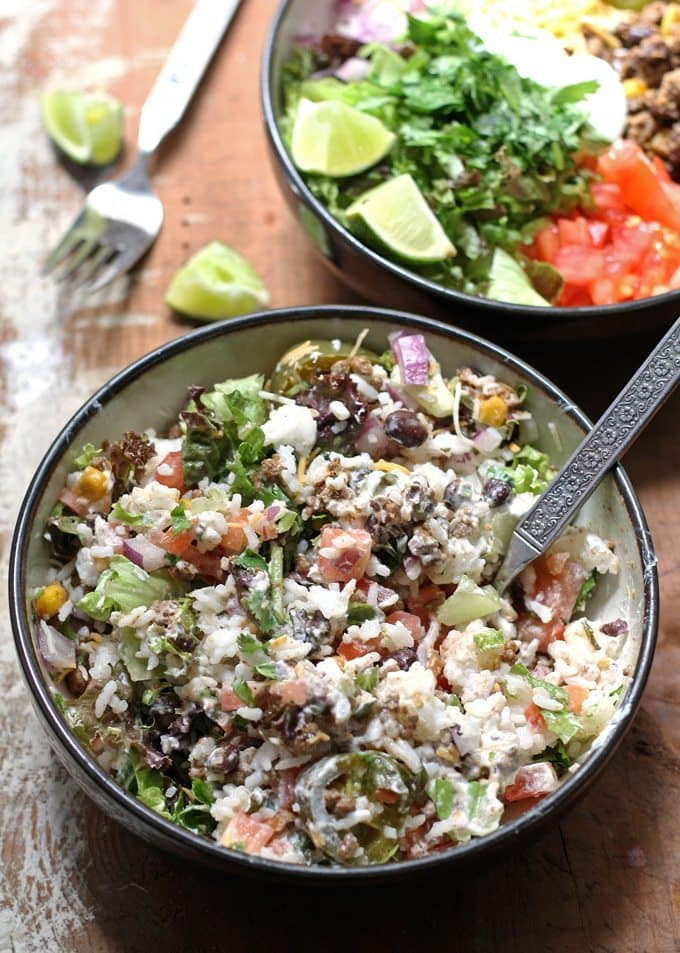 Loaded Burrito Bowls | Honey and Birch
