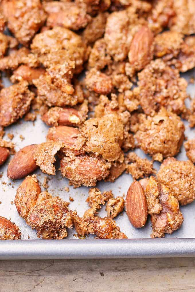 closeup photo of pumpkin pie spiced nuts