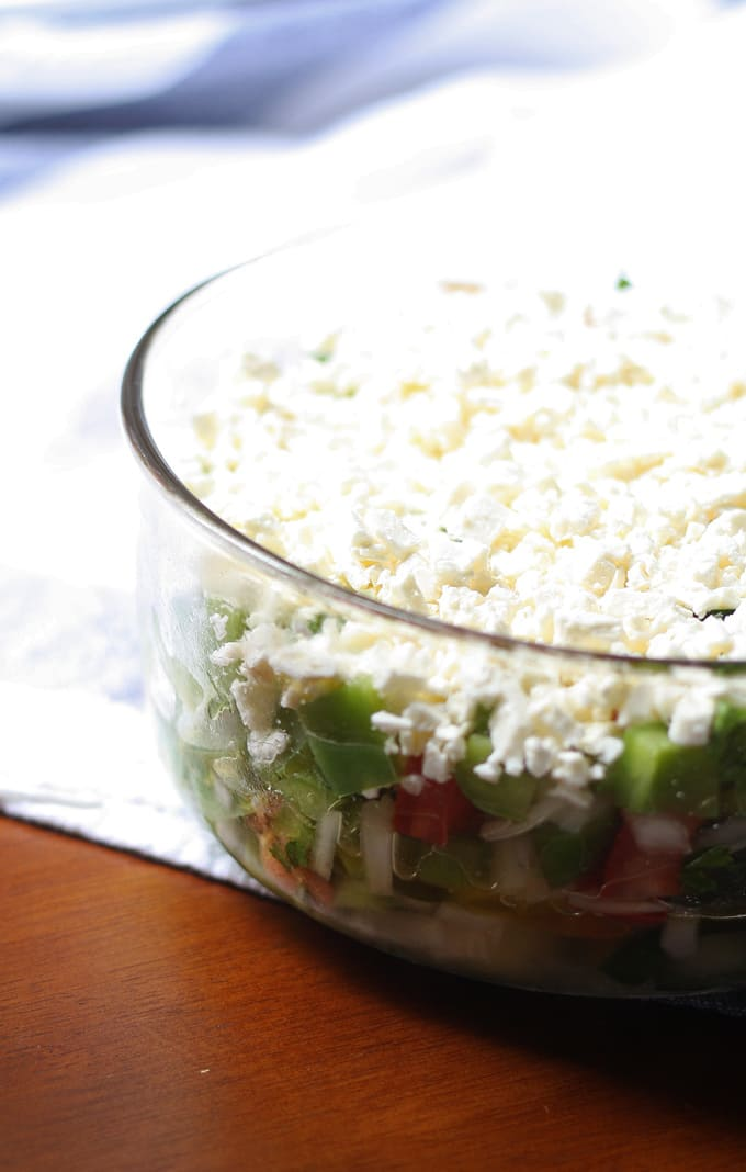 My version of a traditional Bulgarian salad! Shopska Salad | Honey and Birch