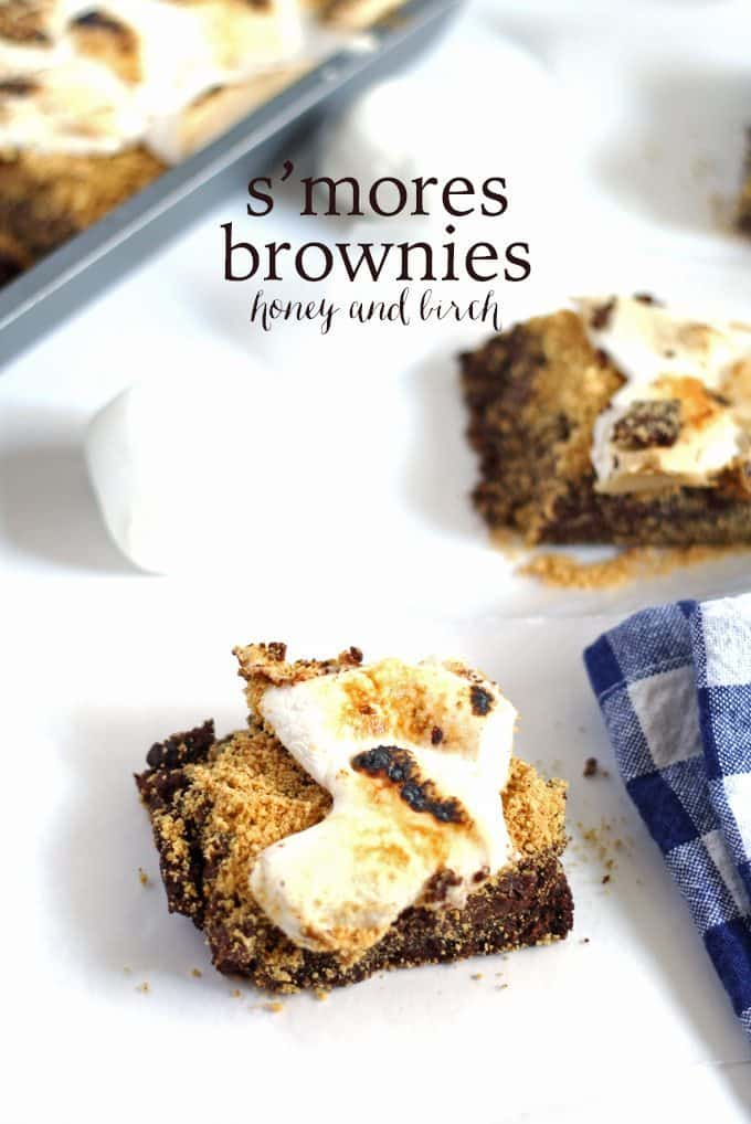 S'mores Brownies | Honey and Birch