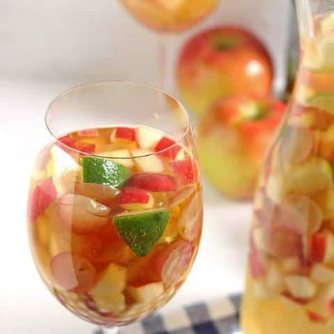 White Wine Apple Cider Sangria | Honey and Birch