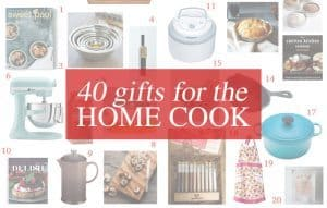Looking for a gift for your favorite home cook? Check out this gift guide! | 40 Gifts for the Home Cook | Honey and Birch | www.honeyandbirch.com #holiday