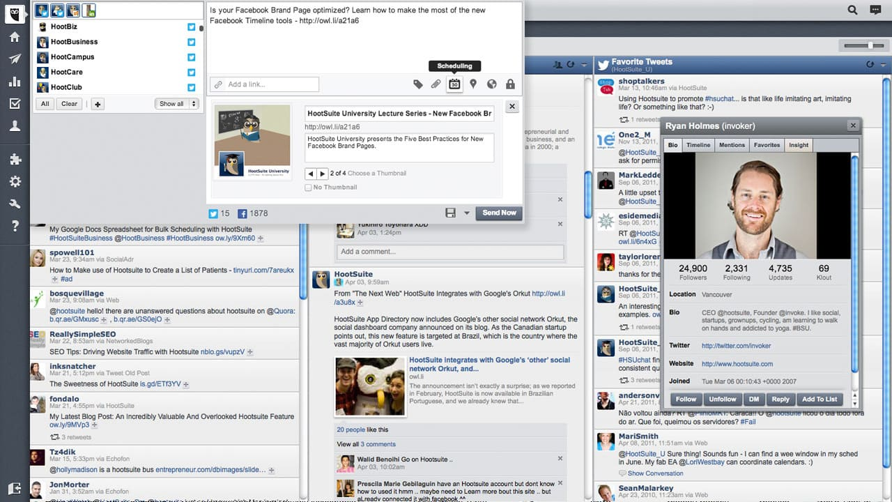 Top 4 Free Social Media Apps for Bloggers - Hootsuite | www.honeyandbirch.com