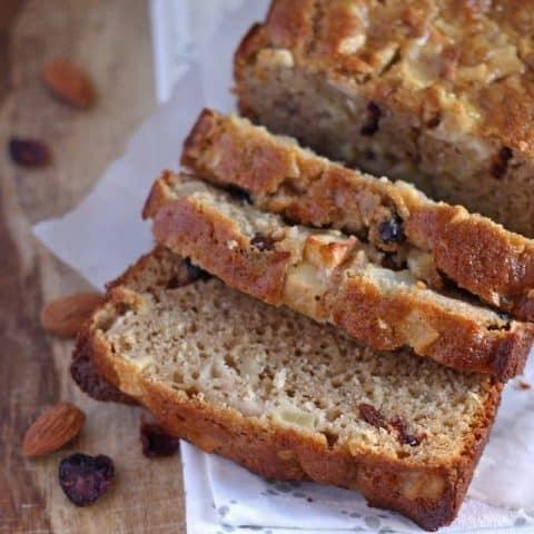 Apple Almond Cranberry Quick Bread