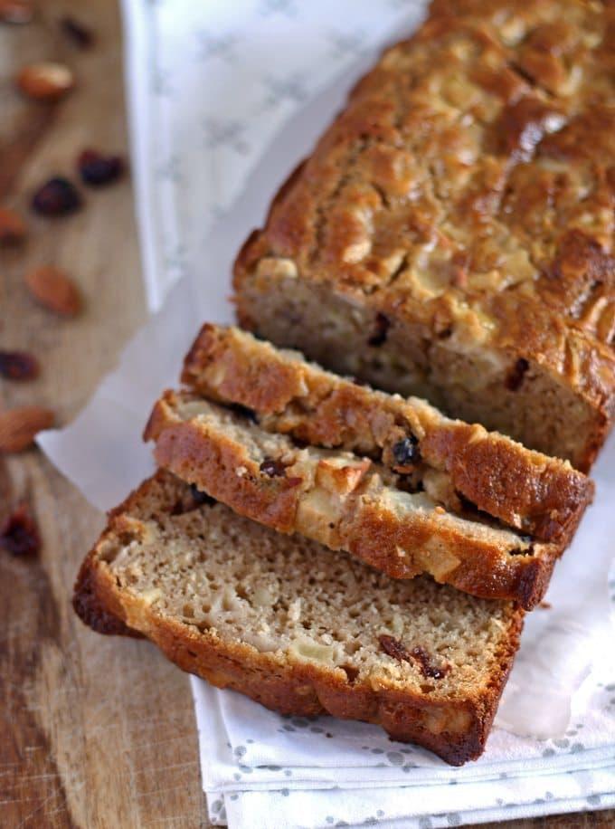 Apple Almond Cranberry Quick Bread | Honey and Birch