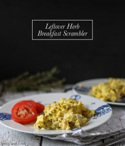 Leftover Herb Breakfast Scrambler | www.honeyandbirch.com