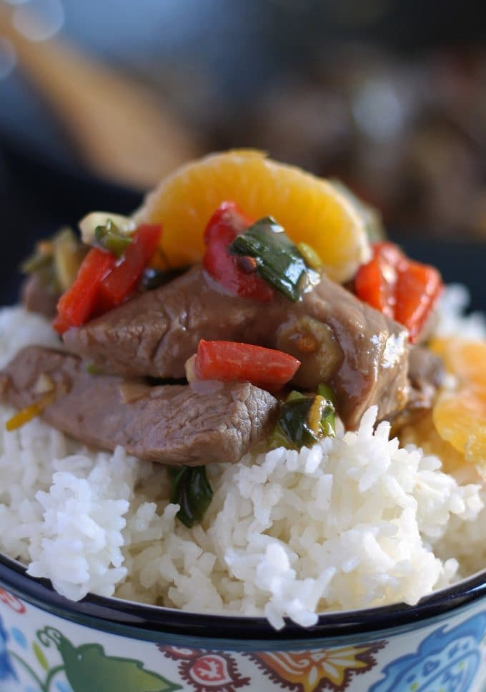 Mandarin Orange Beef Stir Fry | Honey and Birch