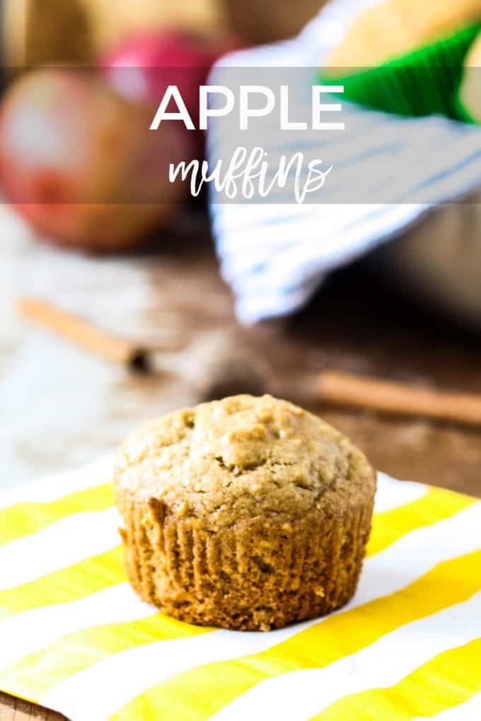 spiced apple muffin pin image