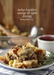 Turkey Breakfast Sausage and Apple Dressing
