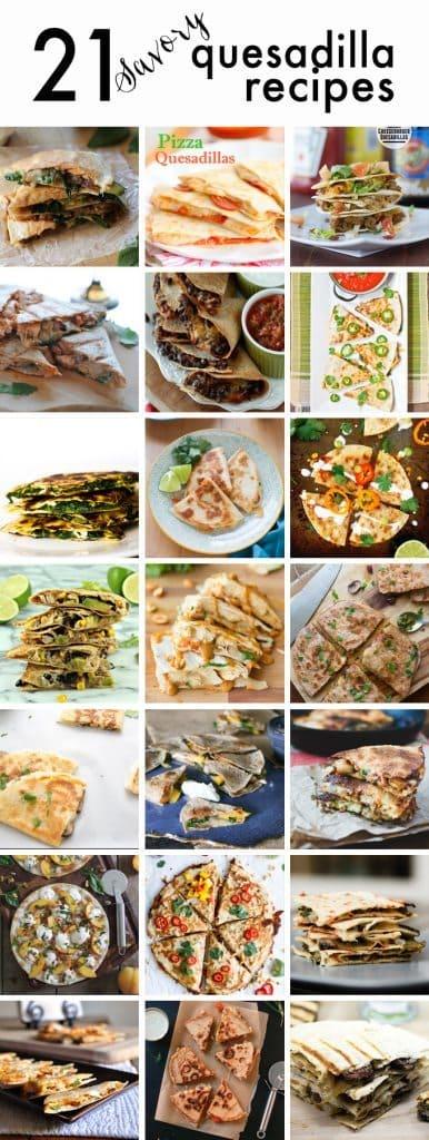 21 Savory Quesadilla Recipes | www.honeyandbirch.com