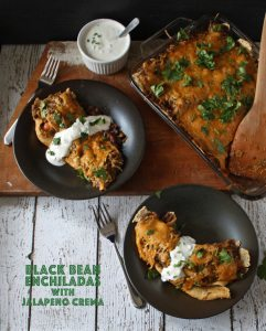Black Bean Enchiladas with Jalapeno Crema