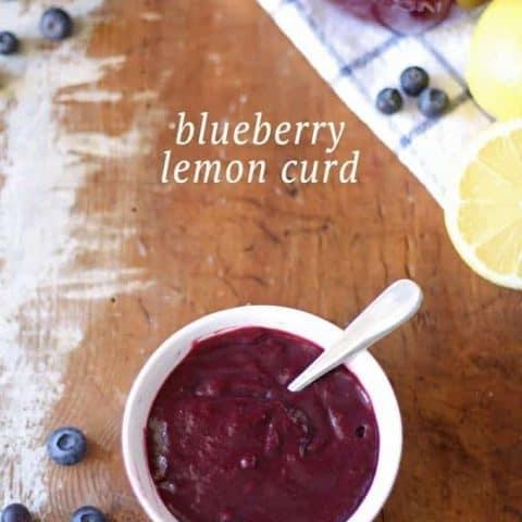 Homemade Blueberry Lemon Curd | www.honeyandbirch.com | Perfect for scones, crepes and desserts!