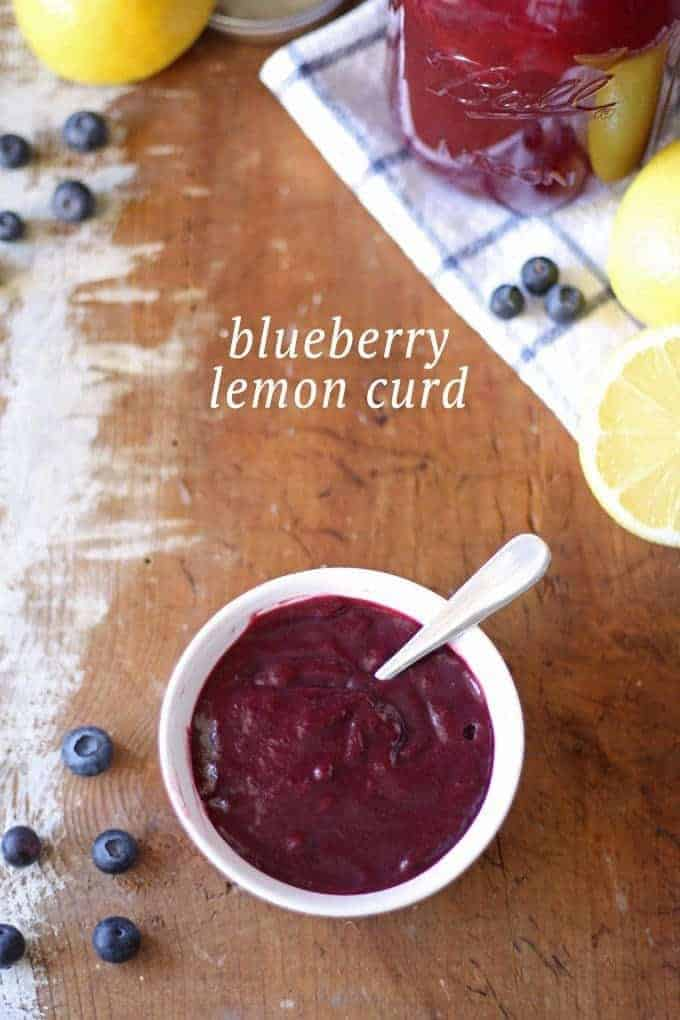 Homemade Blueberry Lemon Curd | www.honeyandbirch.com | Perfect for scones, crepes and desserts!