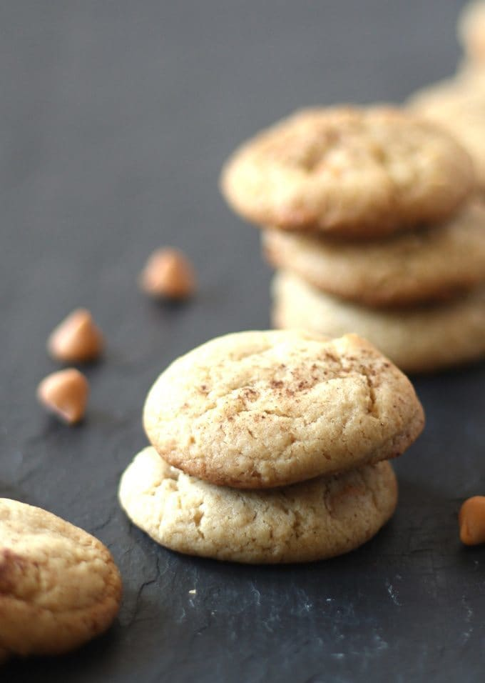 Butterscotch Spice Cookies are perfect for cookie swaps and holiday gatherings! The ginger and cinnamon are perfect with the butterscotch chips. | www.honeyandbirch.com | #christmascookies