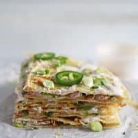 Ham Jalapeno Green Onion Quesadilla