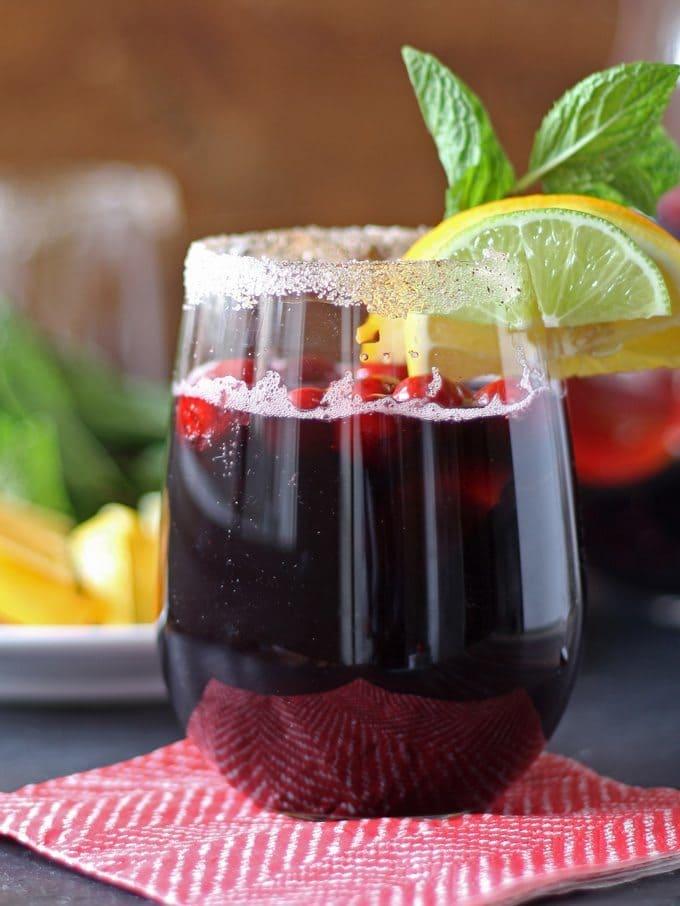 Winter Sangria Recipe | National Sangria Day www.honeyandbirch.com