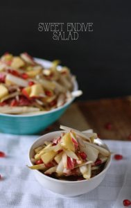 Sweet Endive Salad with Apples and Pomegranate