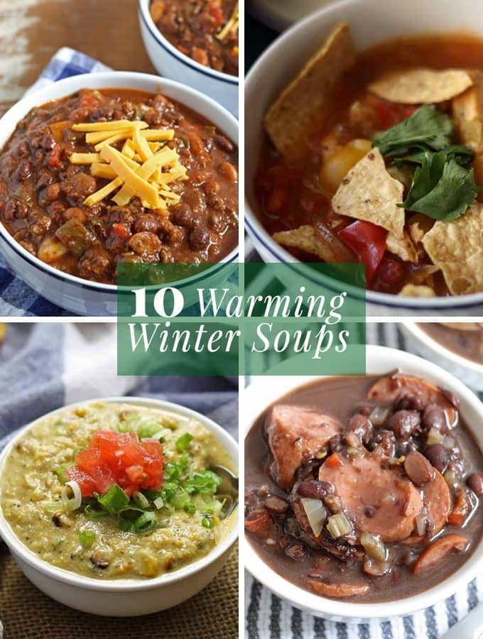 10 Warming Winter Soups to get you through the cold and chilly days!   www.honeyandbirch.com #winter #soup