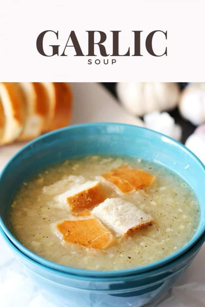 garlic soup recipe pinterest