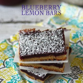 Blueberry Lemon Bars | www.honeyandbirch.com #dessert