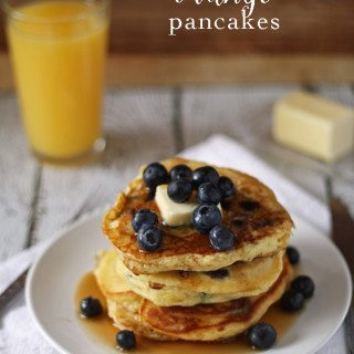 Blueberry Orange Pancakes | www.honeyandbirch.com | #BlueberryPancakeDay #breakfast