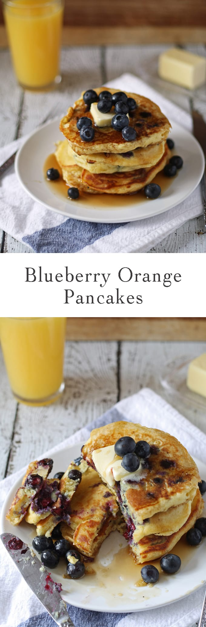 Blueberry Orange Pancakes | www.honeyandbirch.com | #breakfast