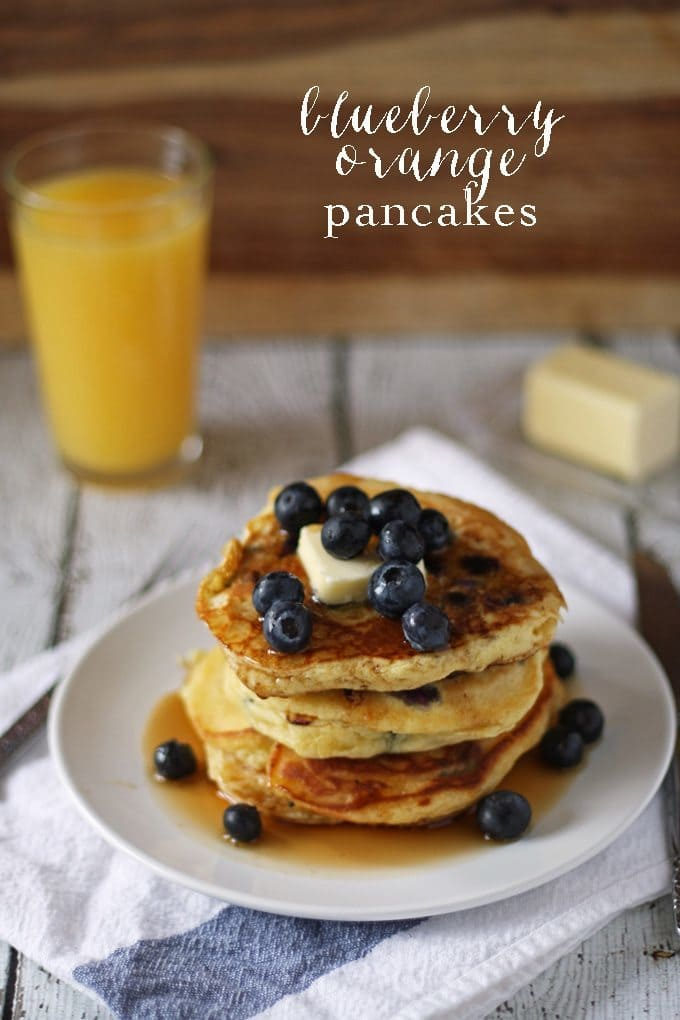 Blueberry Orange Pancakes